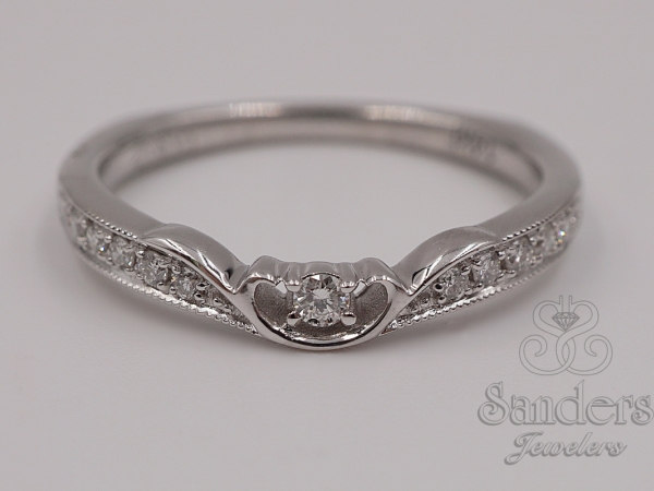 Fancy Diamond Wedding Band by Caro 74