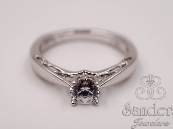 Solitaire Diamond Engagement Ring  by Valina