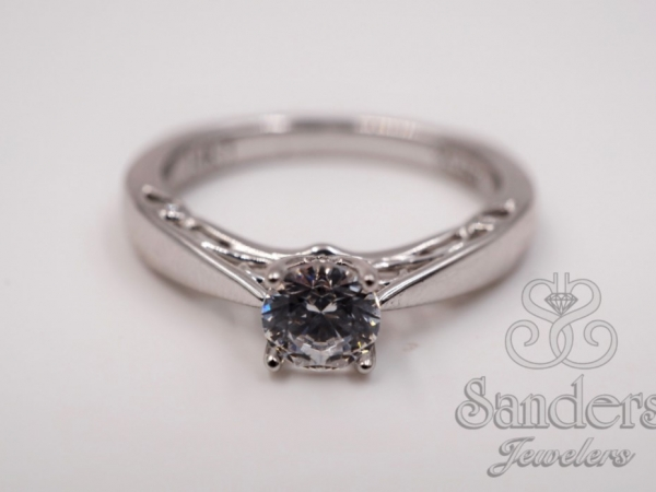 Filigree Diamond Engagement Ring by Valina