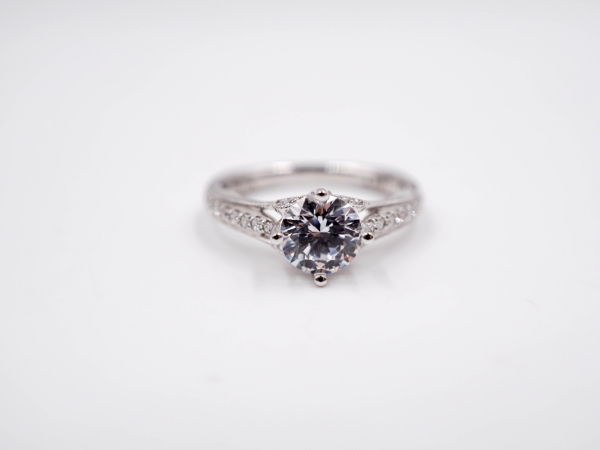 East to West Diamond Engagement Ring by Valina