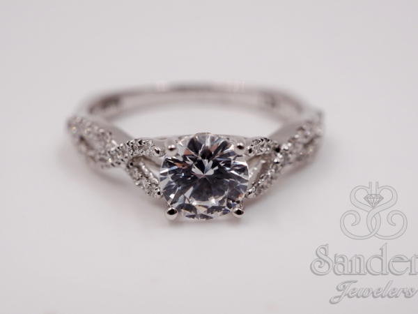 Twisting Diamond Engagement Ring by Valina