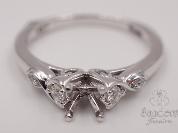 Crossover Diamond Engagement Ring by Valina