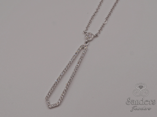 Vertical Diamond Bar Pendant by Dove