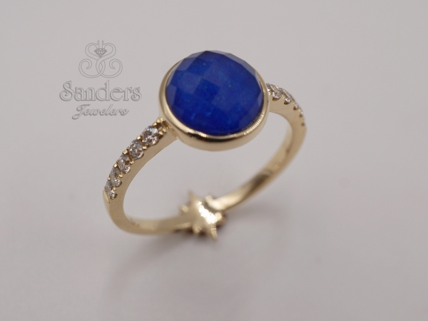 Lapis Fashion Ring by Dove