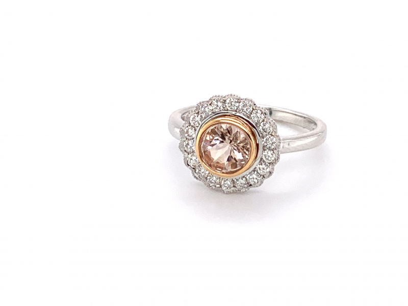 Morganite and Diamond Fashion Ring by Dove