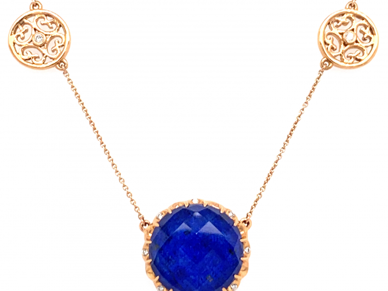 Fashion Lapis Pendant by Dove