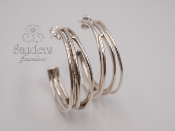 Wire Hoop Earrings by Zina Sterling