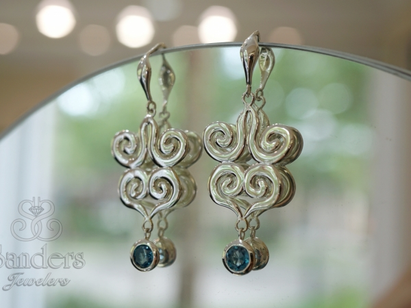 Seville Blue Topaz Earrings by Zina Sterling