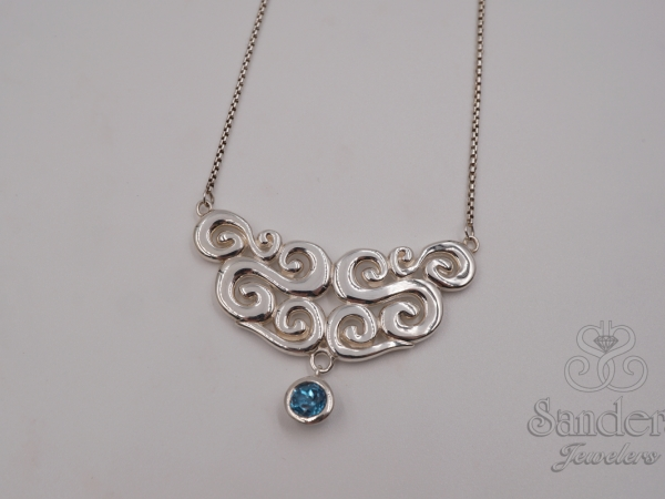 Seville Blue Topaz Pendant by Zina Sterling