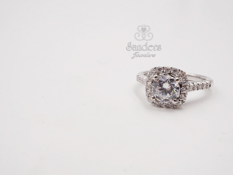 Cushion Halo Engagement Ring by Caro 74