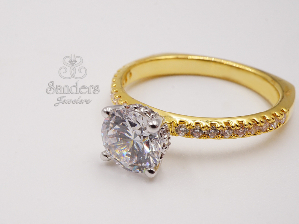 Diamond Solitaire Engagement Ring by Valina