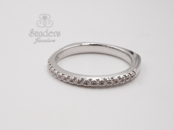 Straight Diamond Wedding Band by Valina