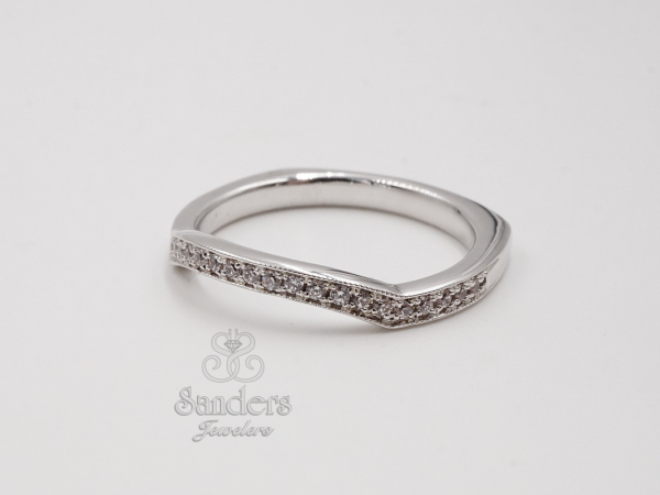 Contoured Diamond Band by Valina